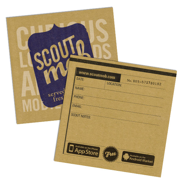 Scoutmob business cards